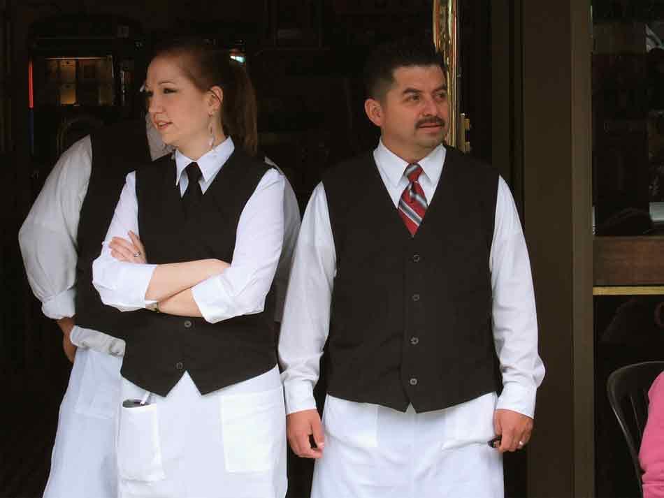 18f3faa2ed8 El vestuario de los empleados de hostelería uniforme o...